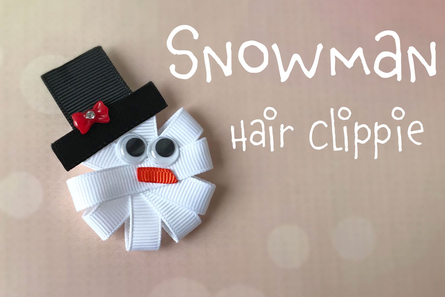 DIY Snowman Hair Accessory Instructions