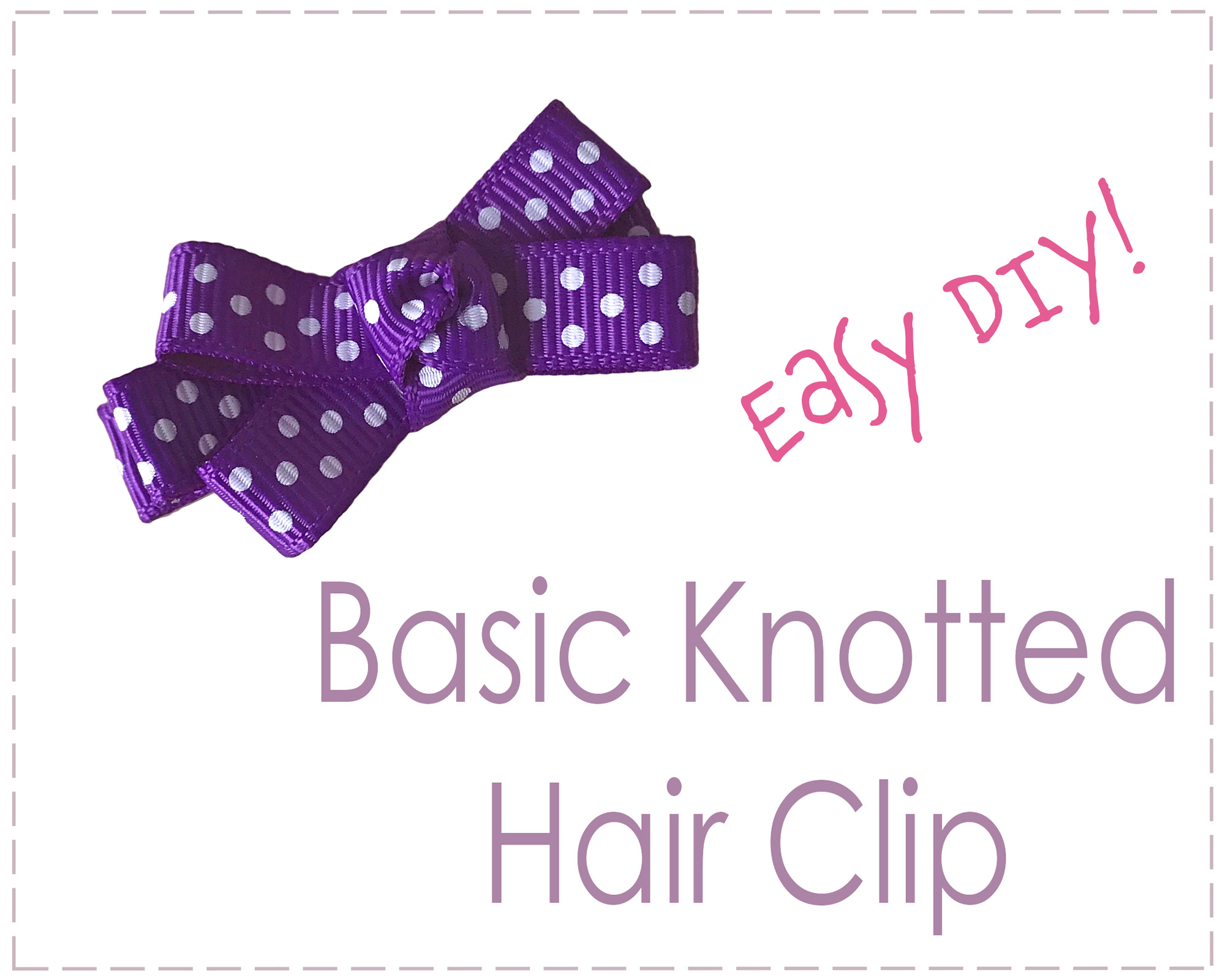 Instructions How to Make a Basic Easy Hair Clip Bow