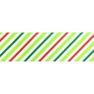 1.5 Christmas Stripe Grosgrain Ribbon Main