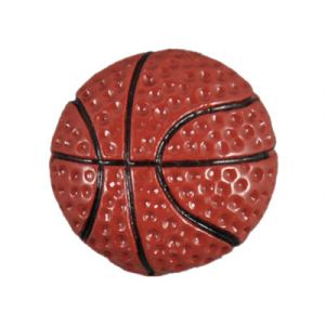 Plain Basketball Flatback Resin Embellishment