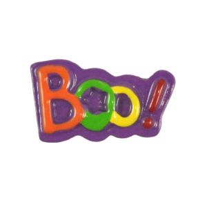 Halloween Boo Flatback Resin Embellishment