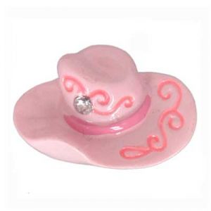Pink Cowgirl Hat Flatback Resin Embellishment