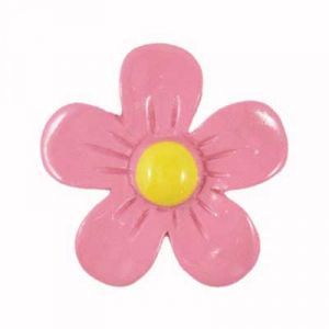 Simple Pink Daisy Flatback Resin Embellishment