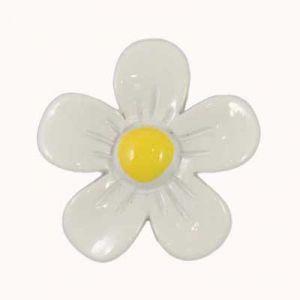 Simple White Daisy Flatback Resin Embellishment