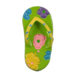 Green Flip-Flop Flatback Resin Embellishment