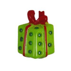 Christmas Red/Green Gift Flatback Resin Embellishment