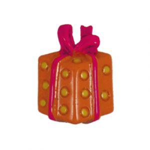 Orange/Pink Gift Flatback Resin Embellishment