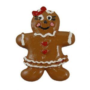 Christmas Gingerbread Girl Flatback Resin Embellishment