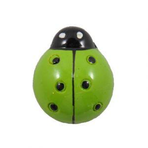 Green Ladybug Flatback Resin Embellishment