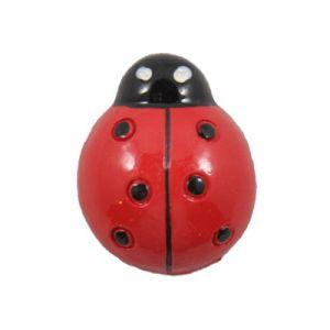 Red Ladybug Flatback Resin Embellishment