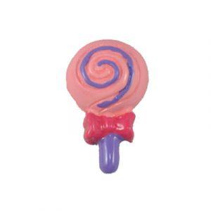 Pink/Grape Lollipop Flatback Resin Embellishment