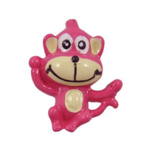 Hot Pink Monkey Flatback Resin Embellishment
