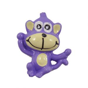 Purple Monkey Flatback Resin Embellishment