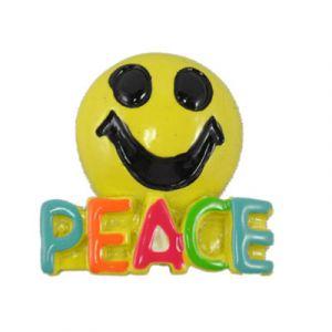 Peace Smiley Flatback Resin Embellishment