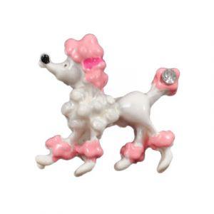 Prissy Poodle Flatback Resin Embellishment