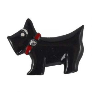 Scottie Dog Flatback Resin Embellishment