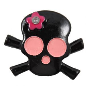 Black Skull Flatback Resin Embellishment