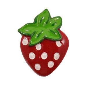 Red Strawberry Flatback Resin Embellishment