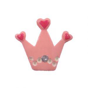 Pink Tiara Flatback Resin Embellishment