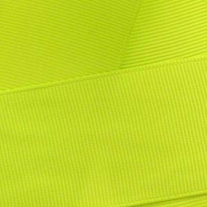 Lime Green Grosgrain Ribbon HBC 546
