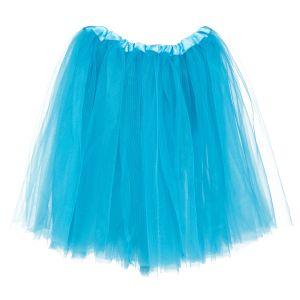 Big Girls Tutu 3-Layer Ballerina (4T - 9) Turquoise