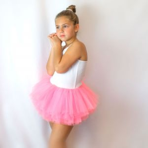 Big Girls Tutu 10-Layer Short Ballet (4T - 9)