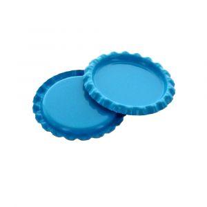 Craft Turquoise Flattened Bottle Caps