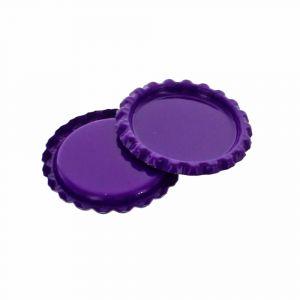 Craft Purple Flattened Bottle Caps