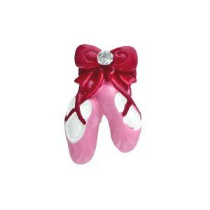 Pink Ballet Shoe Flatback Resin Embellishment