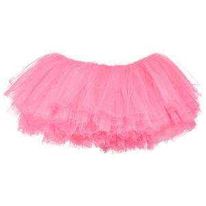 Big Girls Tutu 10-Layer Short Ballet (4T - 9) Bubblegum Pink