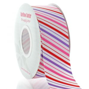 1.5 Pink/Purple Stripe Grosgrain Ribbon