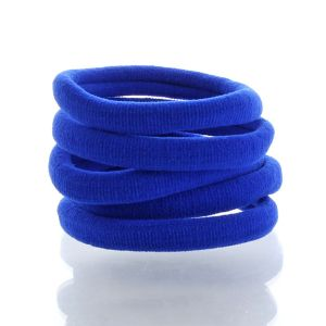 Large Premium Ponytail Hair Bands Electric Blue