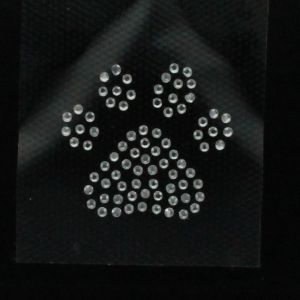 Hotfix Rhinestone Iron On Transfer Motif Paw Print