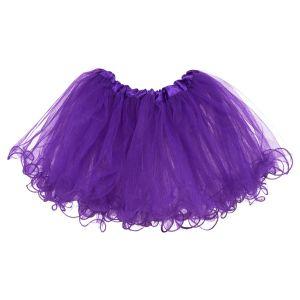 Little Girls Tutu Ruffle Edge 3-Layer (6 mo. - 3T) Purple