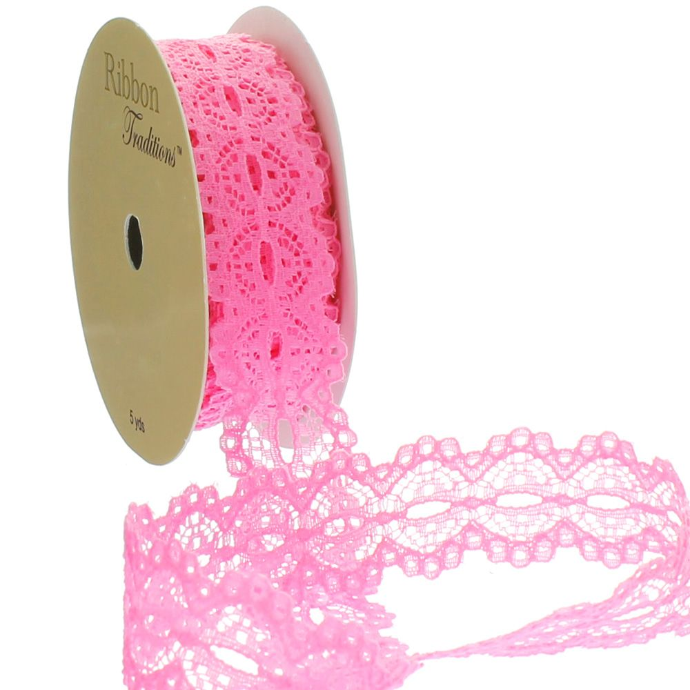 Hot Pink Lace Trim