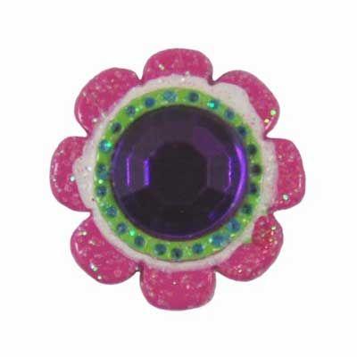 Pink Chic Bling Button Flatback Resin Embellishment