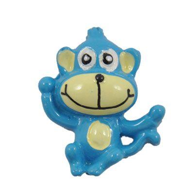 Blue Monkey Flatback Resin Embellishment