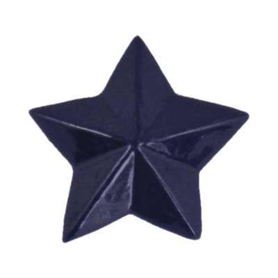 Navy Star Flatback Resin Embellishment