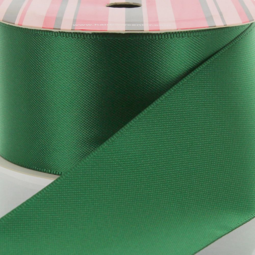 Forest Green Double Faced Satin Ribbon 587