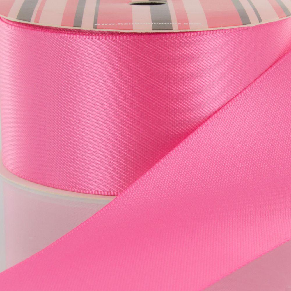 Hot Pink Double Faced Satin Ribbon 156