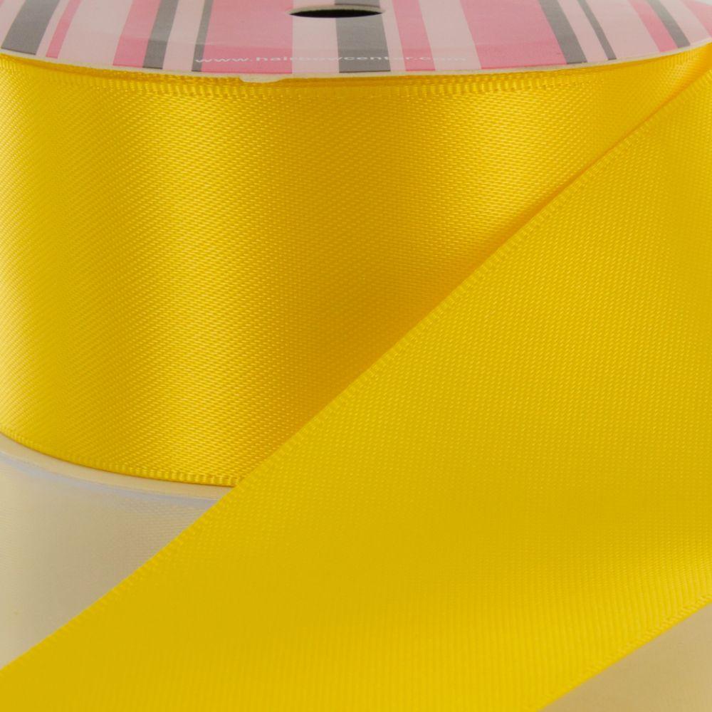 Yellow Double Faced Satin Ribbon 645