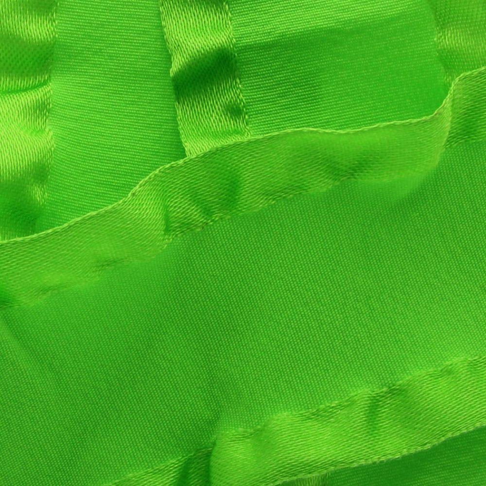 Apple Green Satin Double Ruffle Ribbon