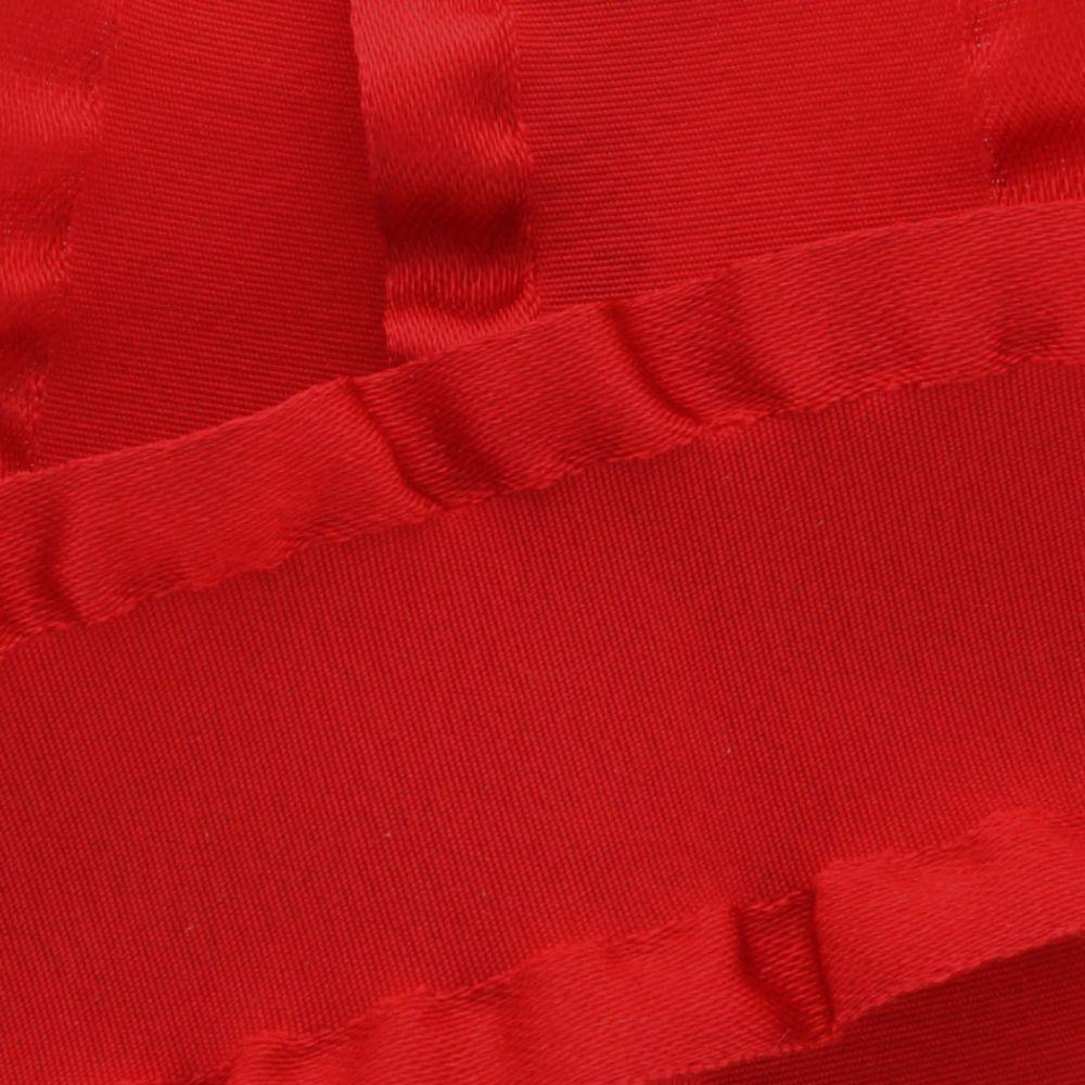 Red Satin Double Ruffle Ribbon