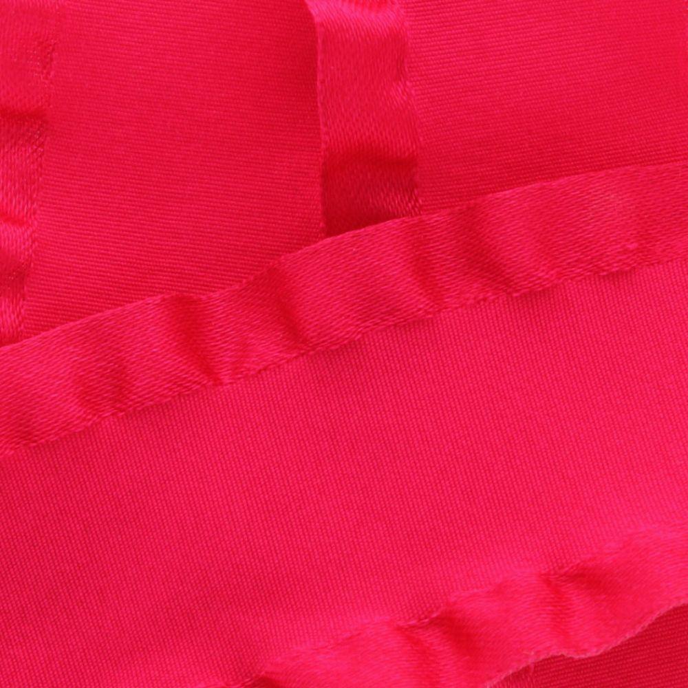 Shocking Pink Satin Double Ruffle Ribbon