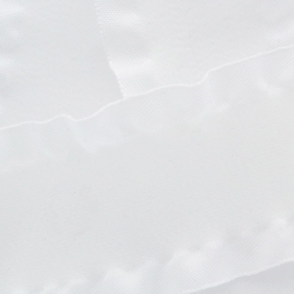 White Satin Double Ruffle Ribbon