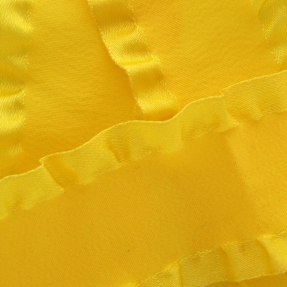 Yellow Satin Double Ruffle Ribbon