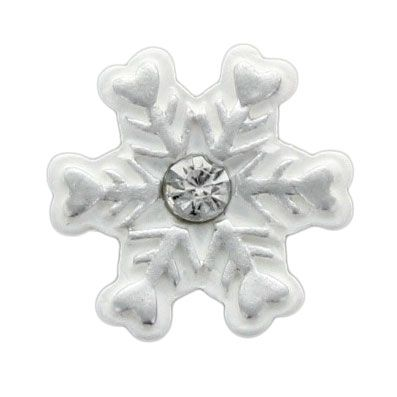 Silver Snowflake Flatback Resin Embellishment