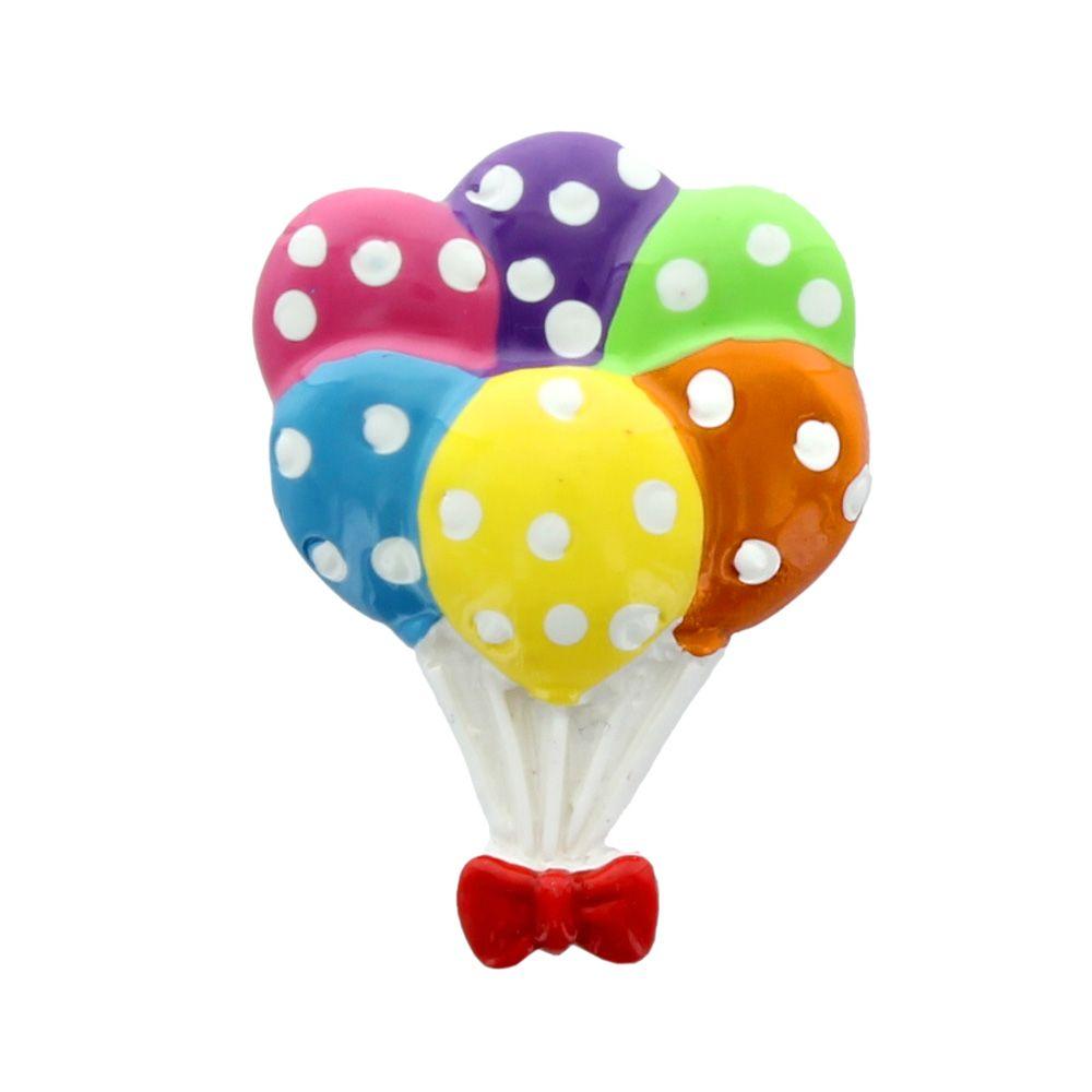 Party Balloons Flatback Resin Embellishment