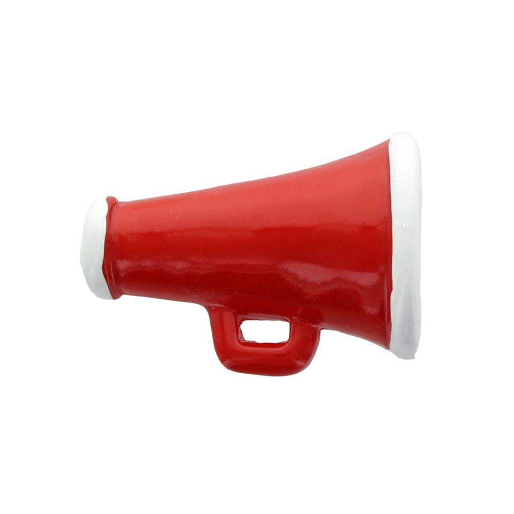Red Cheer Megaphone Flatback Resin Embellishment