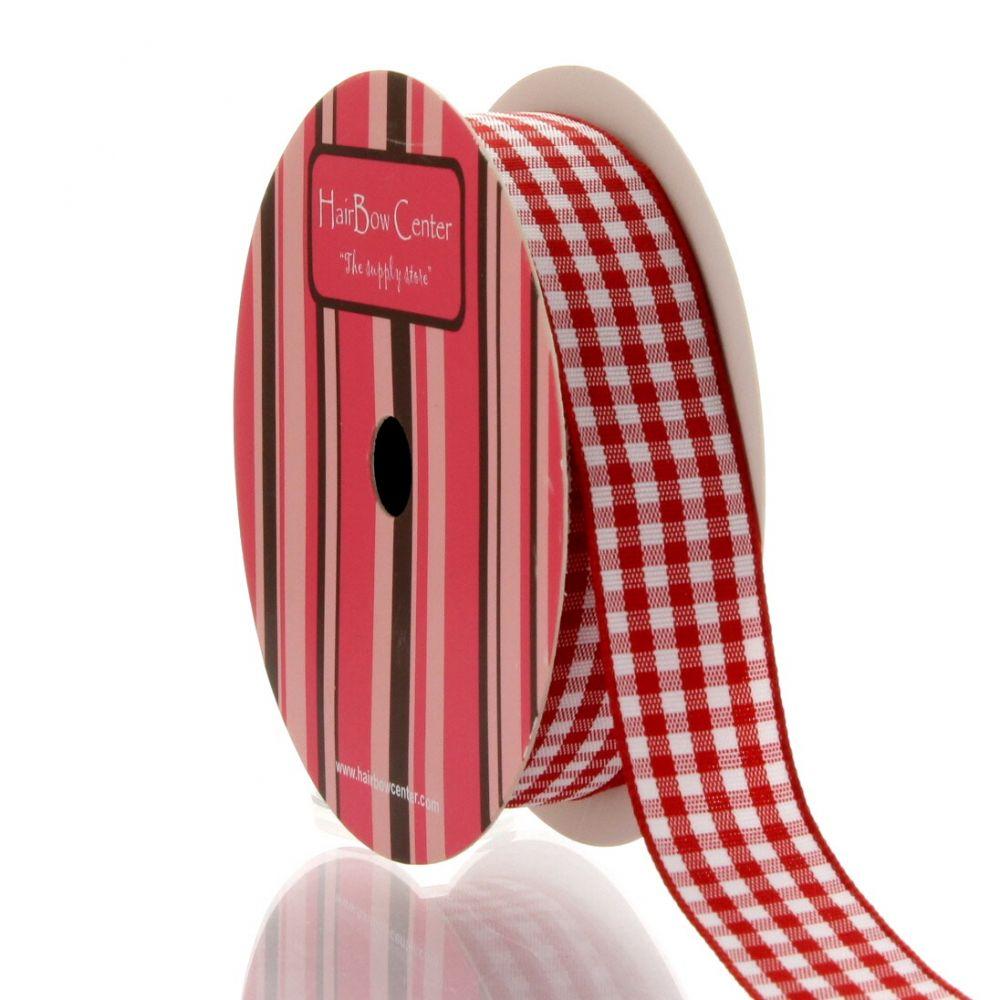 Red Gingham Plaid Ribbon